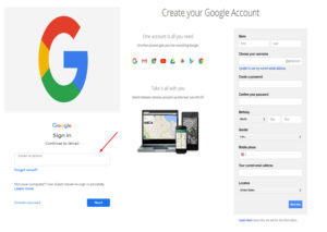 Create Google Email Account - Sign up Gmail and Sign in to Gmail Account   Download Google App